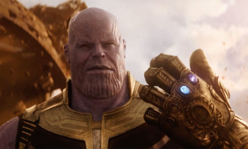 Picture of Thanos in the film Avengers: Infinity War